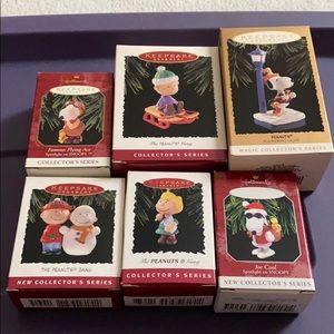 Peanuts - set of 6 vintage ornaments